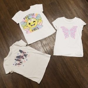 Lot of 3 Girl's shortsleeve shirts All size 7/8